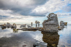 Rock formation on Gotland Royalty Free Stock Photography