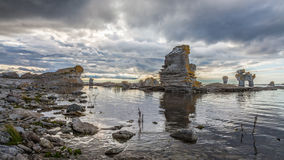 Rock formation on Gotland Stock Photography