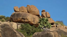 Rock formation in Hampi, India Stock Images