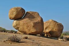 Rock formation in Hampi popular for bouldering Stock Photo
