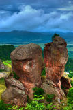 Rock formation hdr royalty free stock photos