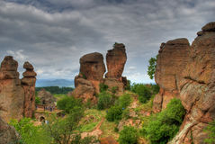 Rock formation hdr royalty free stock photography