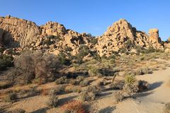 Rock Formation at Hidden Valley Trail in Joshua Tree National Park. California Royalty Free Stock Images