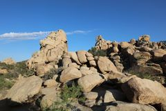 Rock Formation at Hidden Valley Trail in Joshua Tree National Park. California Stock Images