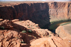 Rock formation at the Horseshoe bend in Utah, USA Royalty Free Stock Photography