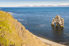 Rock formation -  Hvitserkur, Iceland. Royalty Free Stock Photos