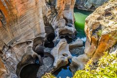 Free Rock Formation In Bourke`s Luck Potholes In Blyde Canyon Reserve Stock Photos - 142615963