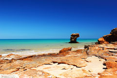 Rock Formation, Indian Ocean, near Broome, Australia Royalty Free Stock Images