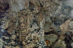 Rock formation inside the cave Magura near  village Rabisha Stock Image