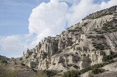 Rock formation in Kula town where is in western region of Turkey. Unique rock formation in Kula town where is in western region of Turkey stock photo
