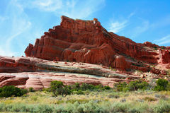 Rock Formation of La Sal Mountains Stock Photography