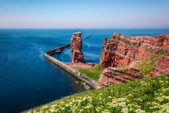 Rock formation Lange Anna. The Lange Anna on the island Helgoland Stock Images