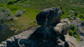 Rock formation that look like a skull stock video footage
