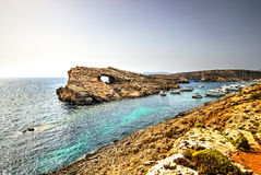 Rock formation, Malta. Strange rock formation near Comino Island, Malta Stock Photography