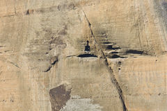 Rock formation at Meteora in Greece Stock Photo