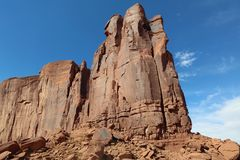 Rock Formation in Monument Valley in Arizona Royalty Free Stock Images