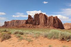 Rock Formation in Monument Valley in Arizona Royalty Free Stock Photo