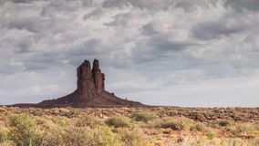 Rock formation in Monument Valley on Cloudy Day stock footage
