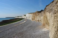 Rock formation named Seven Sisters near Newhaven Royalty Free Stock Image