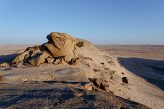Rock formation in Namib desert in sunset, landscape Stock Photography
