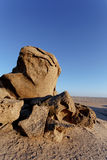 Rock formation in Namib desert in sunset, landscape Royalty Free Stock Images