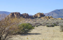 Rock formation in Namibia. Sunny illuminated landscape including a rock formation seen in Namibia, Africa Royalty Free Stock Photography