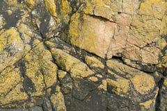 Rock formation near Mont Saint Michel Abbey Stock Photography