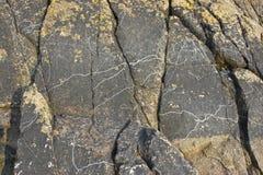 Rock formation near Mont Saint Michel Abbey Royalty Free Stock Photos