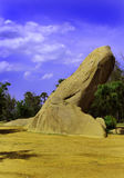Rock formation. Near tiger cave-near chennai, tamilnadu, india Royalty Free Stock Image