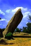 Rock formation. Near tiger cave-near chennai, tamilnadu, india Stock Photos