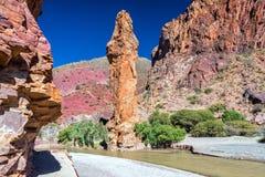 Rock Formation near Tupiza, Bolivia. Large rock formation near Tupiza, Bolivia Stock Photography