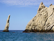 Rock formation in the Ocean. In Cabo San Lucas, Mexico royalty free stock images