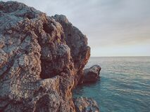 Rock Formation by Ocean Stock Images