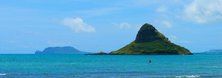 Rock Formation Off the Coast of Ohau, Hawaii stock images