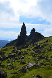 Rock Formation at Old Man of Storr. Amazing rock formation on the Isle of Skye in Scotland Royalty Free Stock Photos