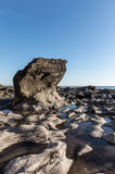 Rock formation at the Pointe du Payre Royalty Free Stock Images