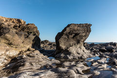 Rock formation at the Pointe du Payre Royalty Free Stock Photo