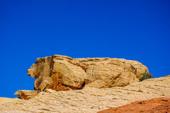 Rock formation resemble ancient Egyptian pyramids. Image captured in Red Rock Canyon, Nevada, USA Stock Photography