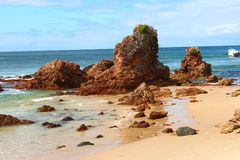 Rock Formation. Rocks by the ocean in Port Macquarie Royalty Free Stock Images