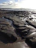 Rock formation. Rocks by seaside-Dunedin Stock Image
