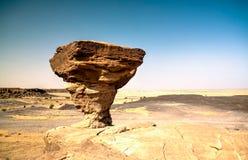 Rock formation at Sahara desert near Tchirozerine region, Agadez, Niger Royalty Free Stock Photo