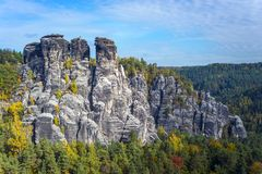 Rock formation in Saxon Switzerland Stock Photography