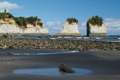 Rock formation in the sea Stock Photo
