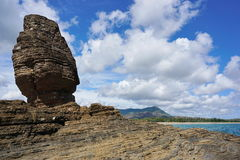 Rock formation on seashore Bourail New Caledonia Royalty Free Stock Photography