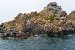 Rock formation at Seven Islands Stock Photo
