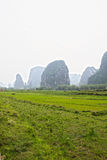 Rock formation in the south of China Stock Image