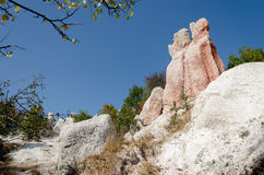 Rock formation ``svatbata`` or `petrified wedding` royalty free stock photo