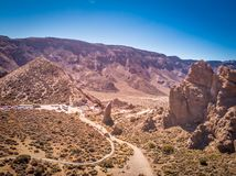 Rock formation in Teide National Park stock photography