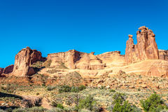 Rock Formation Three Gossips Stock Images