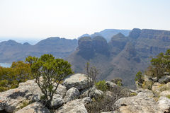 Rock formation Three Rondavels, Blyde River Canyon Royalty Free Stock Photo